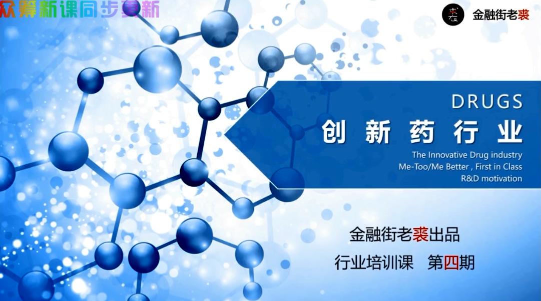 老裘聊行业与公司之创新药行业