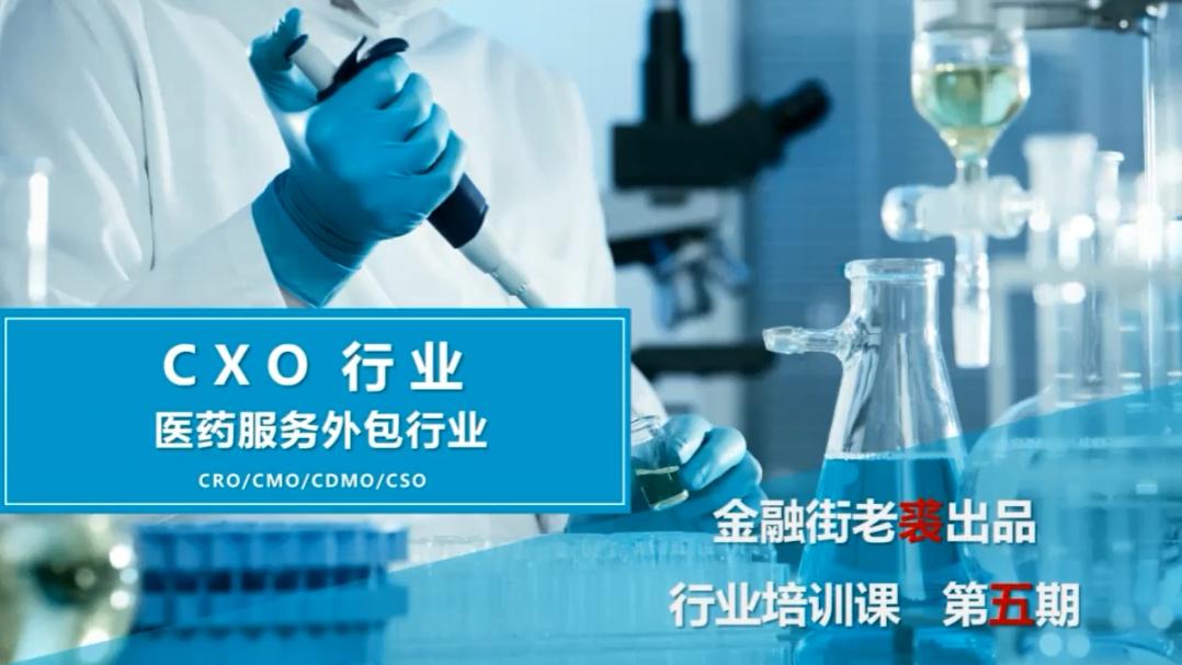老裘聊行业与公司之CXO医药服务外包行业