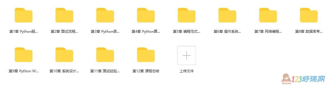 Python工程师面试宝典课程目录