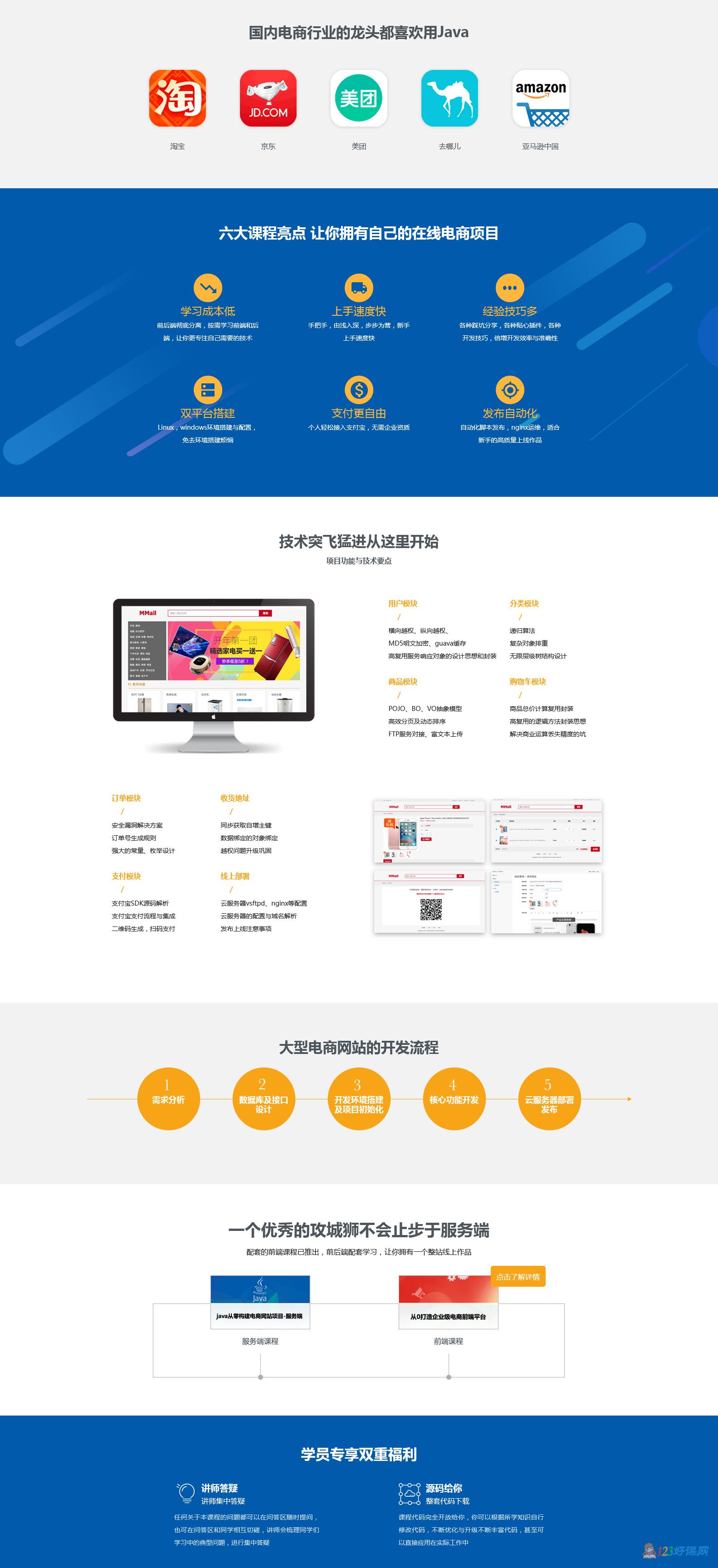 Java电商网站开发视频课程