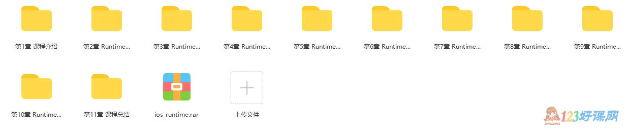 iOS中的Runtime机制视频课程目录